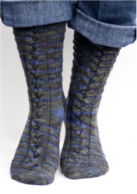 Beautiful Basketweave and Braid Socks