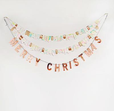 Cheerful Watercolor Party Garland