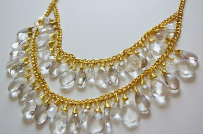 Cascading Crystals DIY Drop Necklace