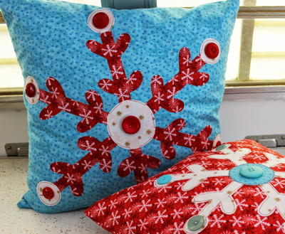 Snowflake Applique for Pillows
