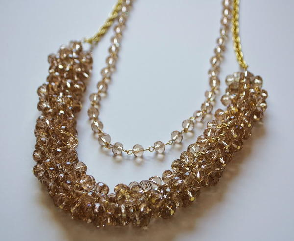 Shimmering Crystal Cluster Necklace