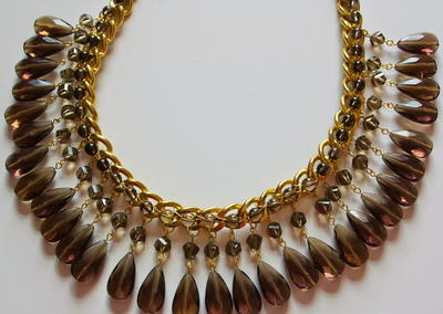 Dazzling Drop Bead Statement Necklace