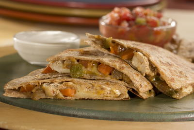 EDR Chicken n Cheddar Quesadillas