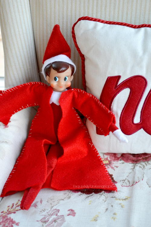 DIY Elf On The Shelf Coat