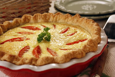 Southern Bacon Tomato Quiche