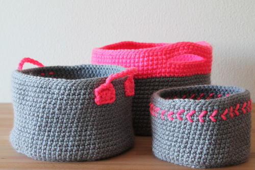 Neon Touch Baskets