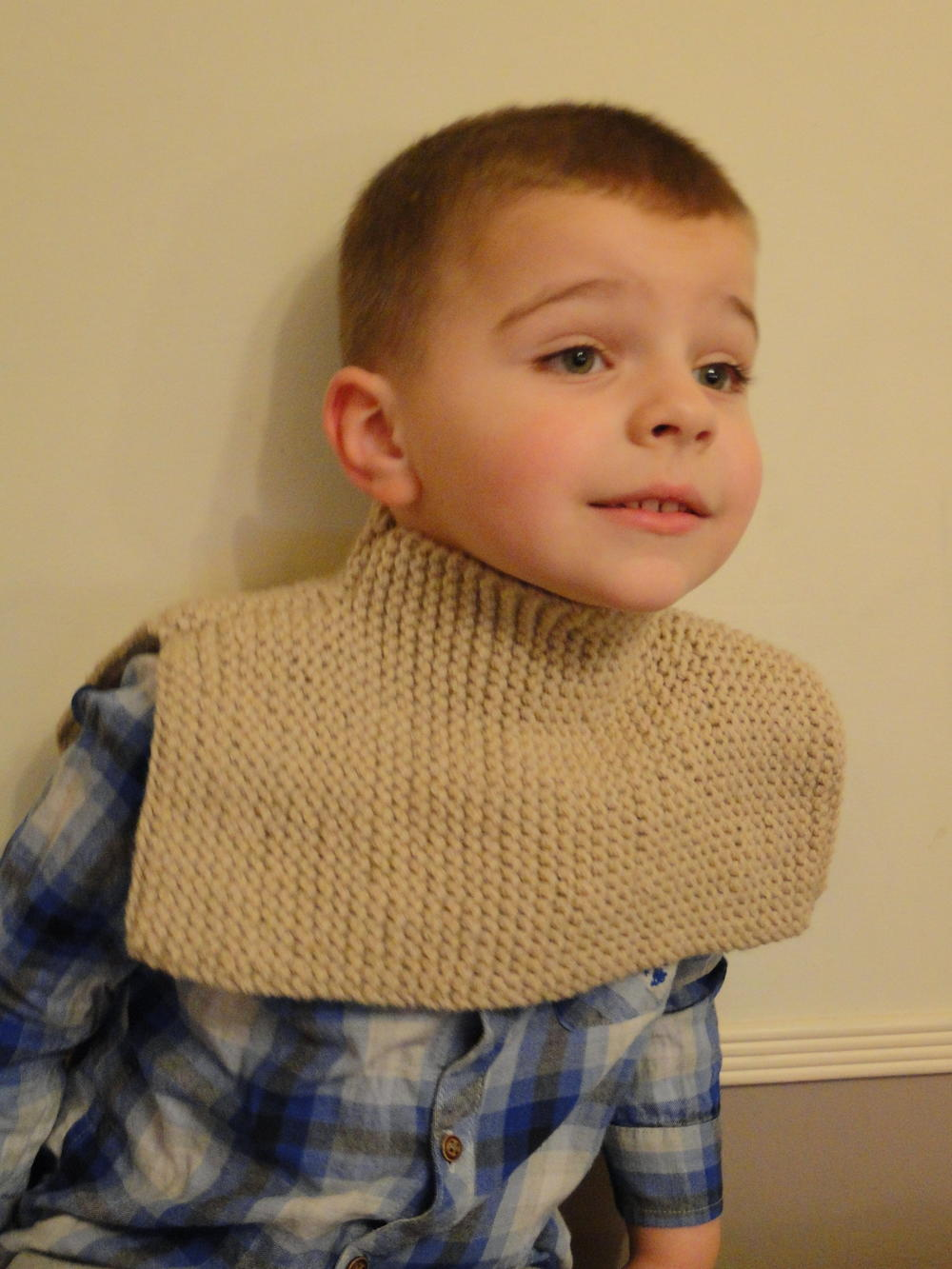 Under Your Coat Knit Scarf for Kids AllFreeKnitting.com