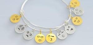 Emoji Handstamped Charms
