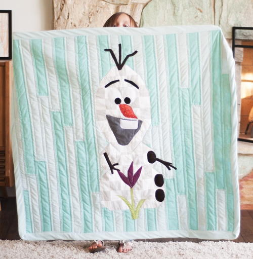 Adorable Olaf the Snowman Quilt