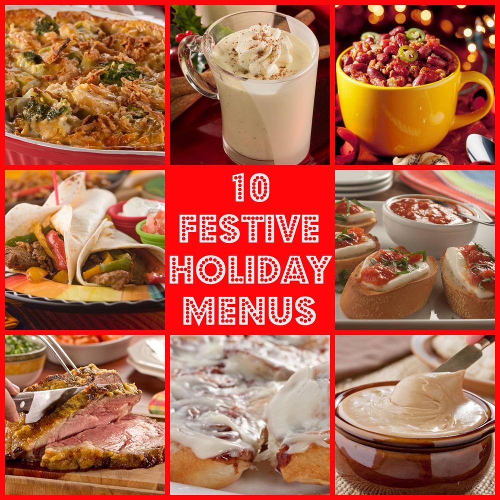 10 Festive Holiday Menus for Christmas & More   MrFood.com