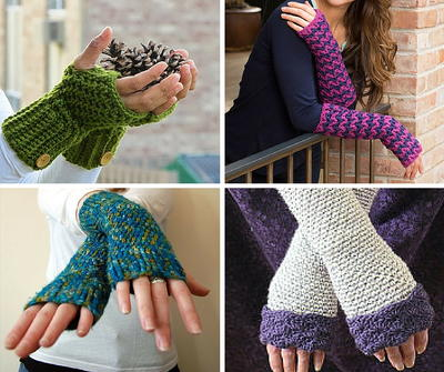 55 Incredible Crochet Fingerless Gloves
