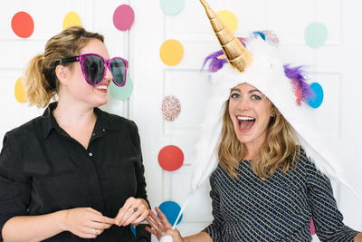 Colorful Polka Dot Photobooth Backdrop
