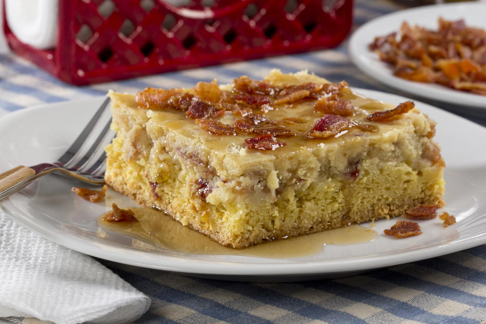 Maple-Bacon Ooey Gooey Butter Cake | MrFood.com