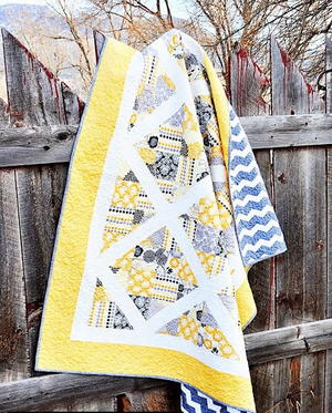 Charming 4 Patch Slice Quilt
