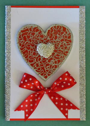 Double Delight Valentine's Day Handmade Card