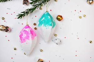 Brightly Painted Christmas Ornaments