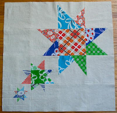 Quilt Pattern Radiant Star : Radiant Wonky Star Quilt Block FaveQuilts.com