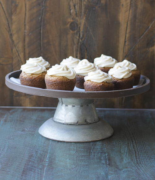 Gingerbread Cupcakes with Maple Frosting