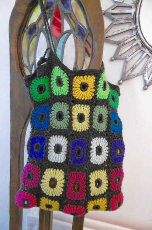 Flower Power Crochet Bag