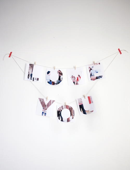 I Love You Photo Banner
