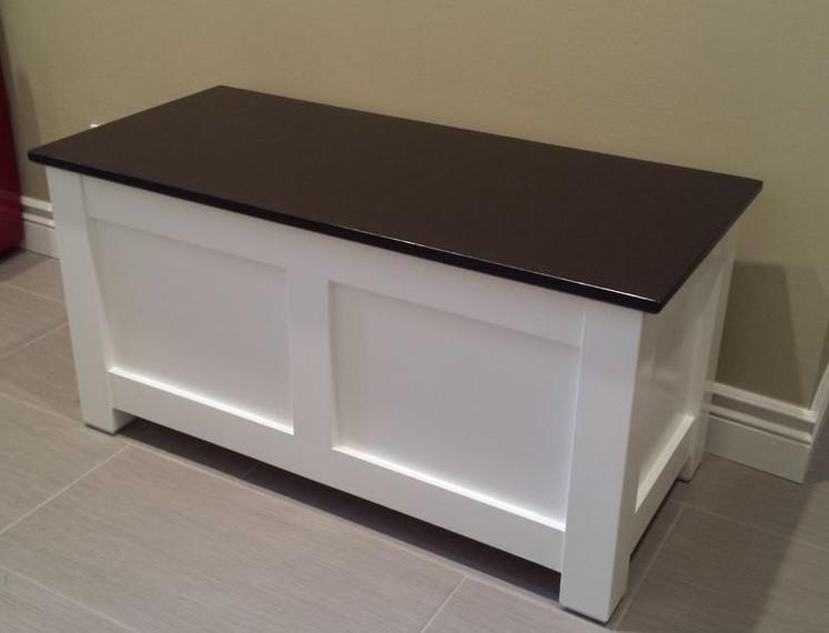 Homemade Entryway Storage Bench Diyideacenter Com
