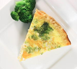 Broccoli and Cheddar Quiche