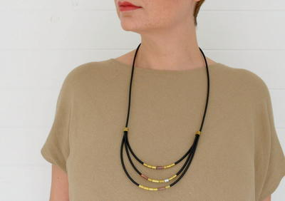Brassy Broad Recycled Necklace