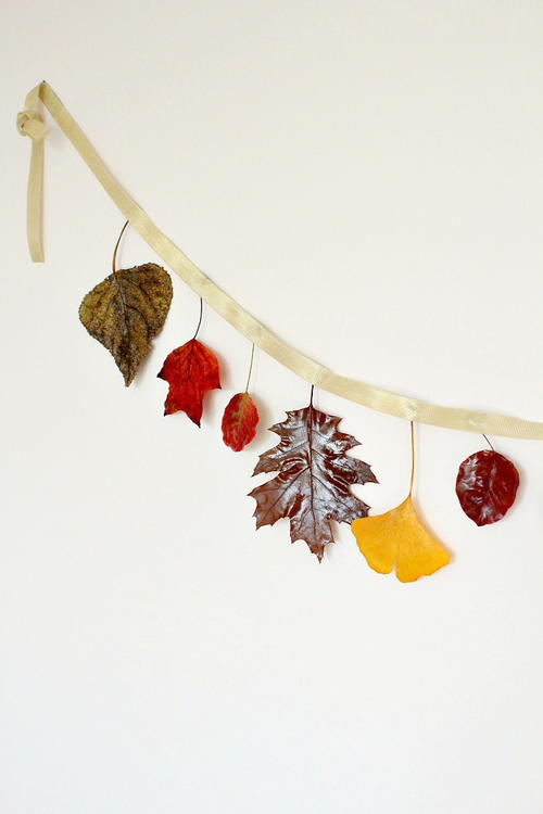 DIY Fall Leaves Garland
