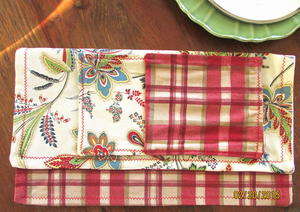 Rustic Checkered Sewn Napkins