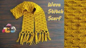 Wave Stitch Crochet Scarf Pattern