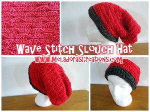 Wave Stitch Slouchy Hat