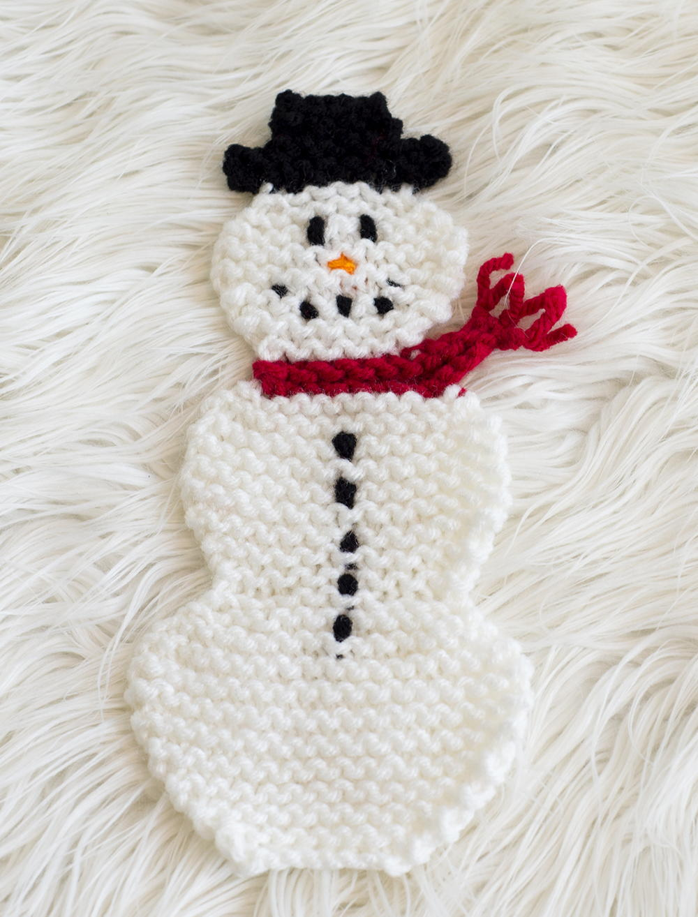 Adorable Snowman Pot Holder Allfreeknitting Com
