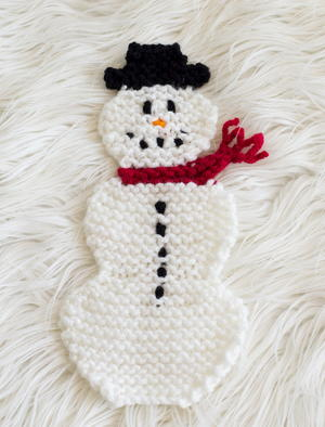 Adorable Snowman Pot Holder