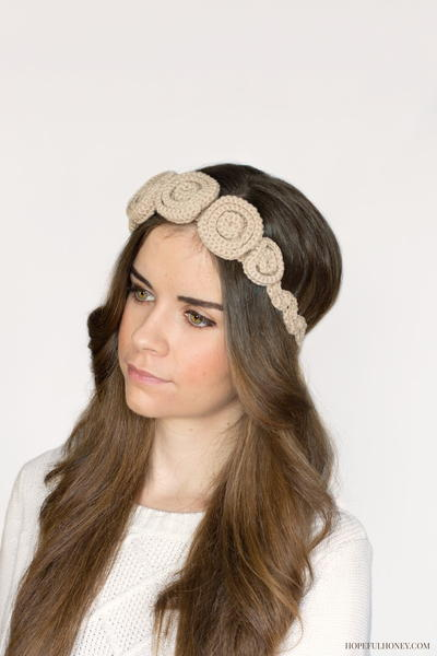 Ravishing Rosette Crochet Headband