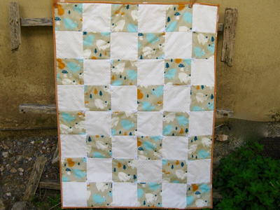 One Patch Organic Baby Quilt | FaveQuilts.com : organic baby quilts - Adamdwight.com