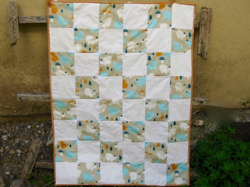 One Patch Organic Baby Quilt