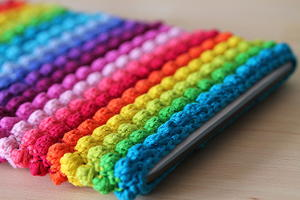 Rainbow Bobble Tablet Sleeve