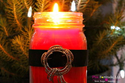 Santa Candle Mason Jar Crafts