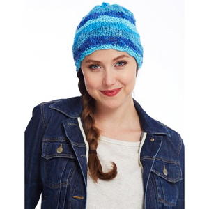 Basic Blue Striped Beanie