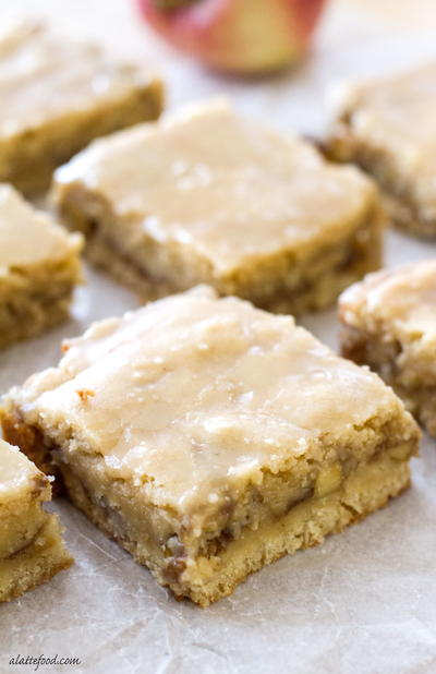Amazing Maple Glazed Apple Blondies