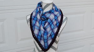 Crocheted Edge Flannel Scarf