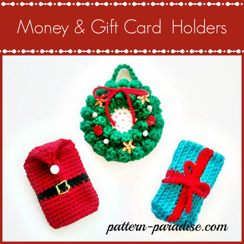Crazy Cute Crochet Gift Card Holders