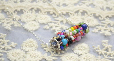 Wonderful Waterwheel Seed Bead Necklace