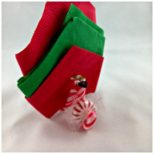 DIY Christmas Candy Cane Napkin & Mint Holder