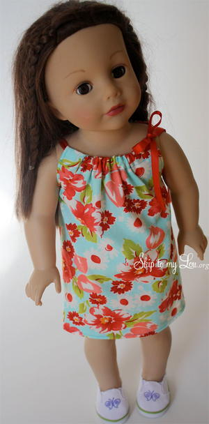 Sweet Summery Doll Dress Pattern