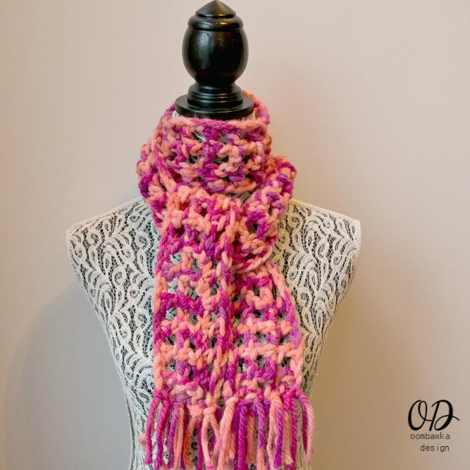 Crochet Scarf Patterns One Skein : Classy and Quick One Skein Scarf AllFreeCrochet.com