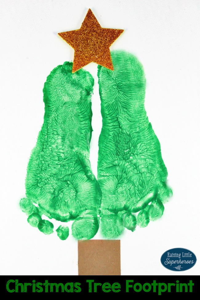 Mother S Day Menu Ideas: Christmas Tree Footprint Craft