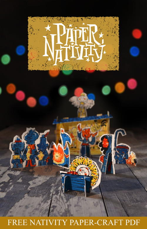 Free Printable Paper Nativity