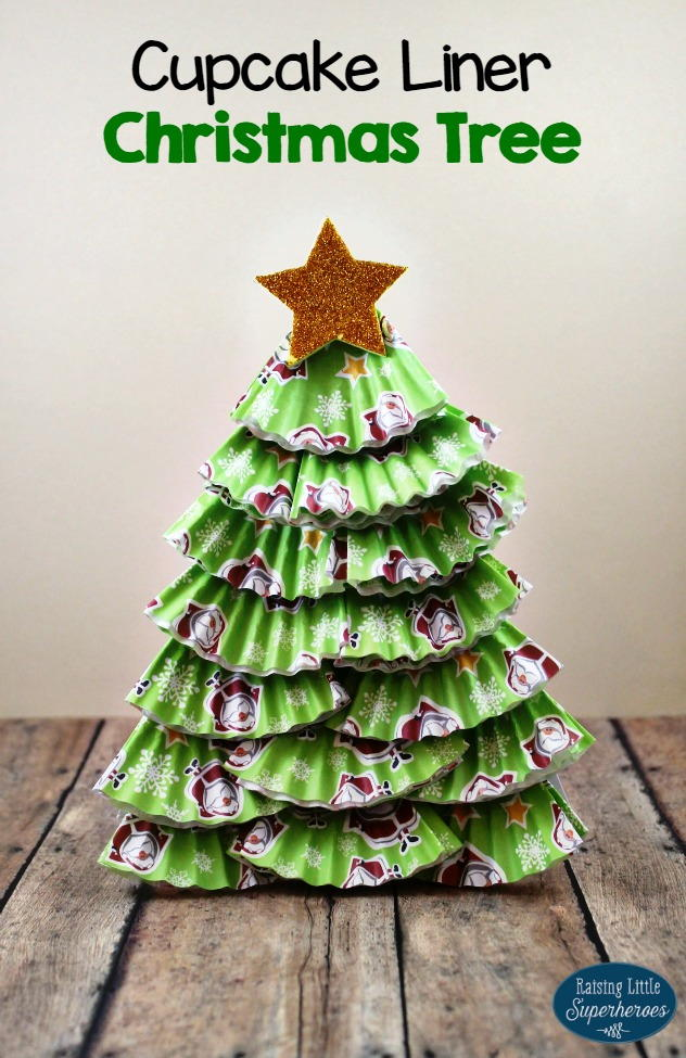 christmas cupcake liner craft ornament cupcake liner tree allfreekidscrafts 6046
