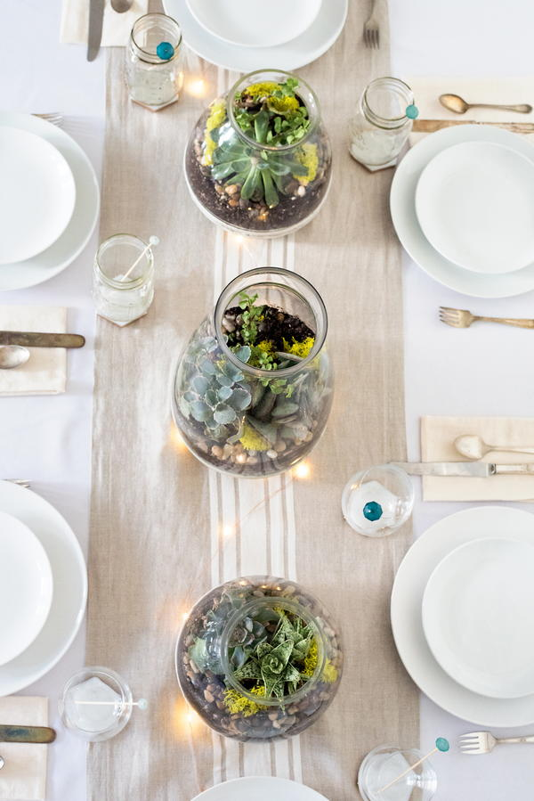 Elegant and Easy Succulent Table Centerpieces